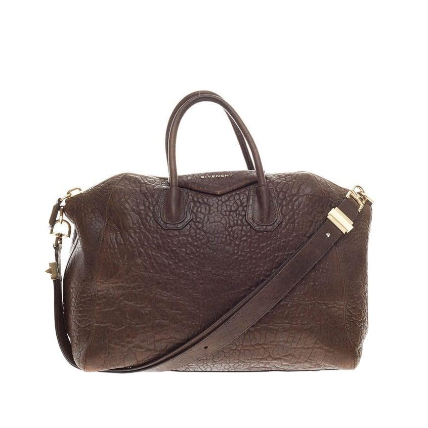 957bed589160 Givenchy Antigona Bag Pebbled Leather Large at 1stdibs