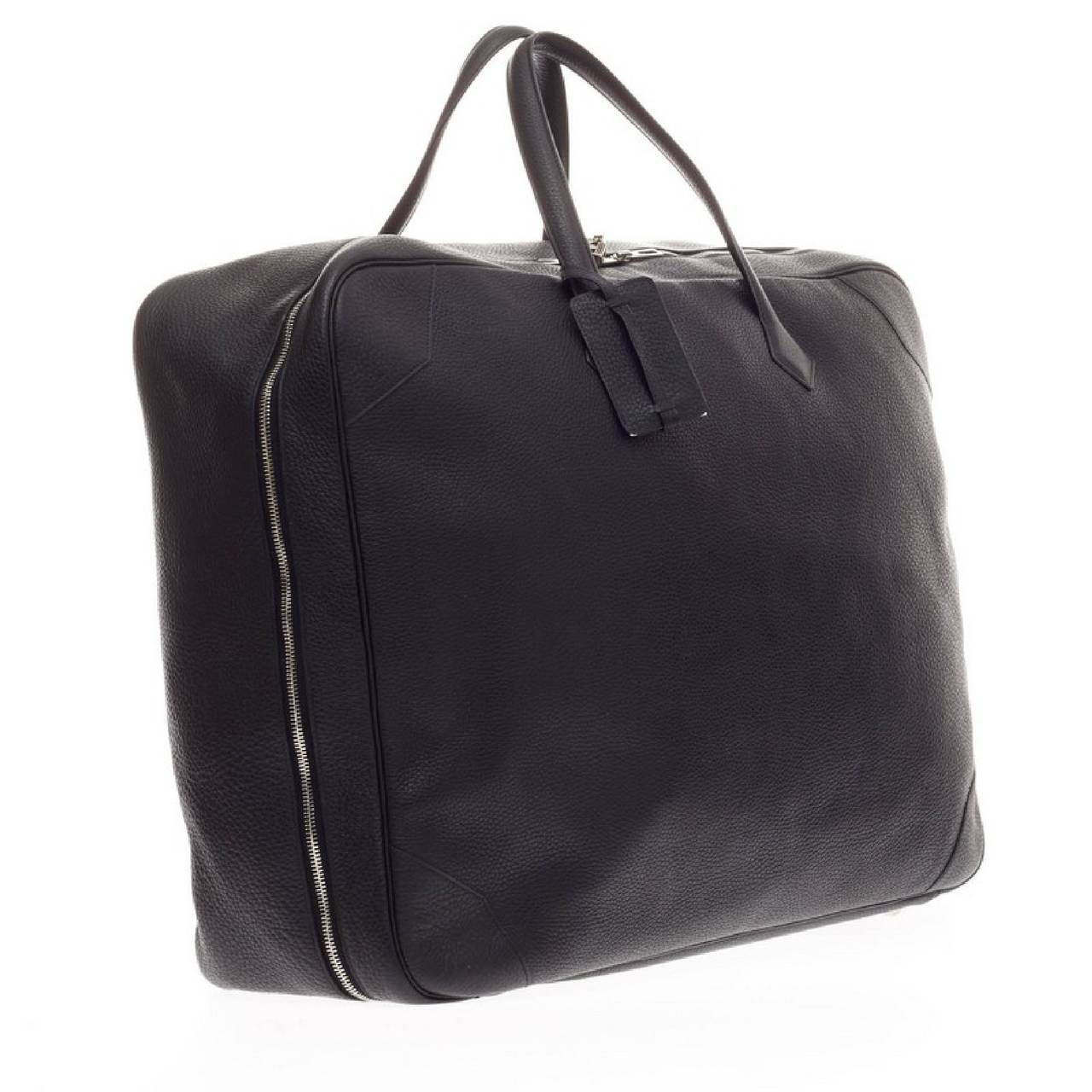 Hermes Victoria II Travel Clemence 50 at 1stdibs
