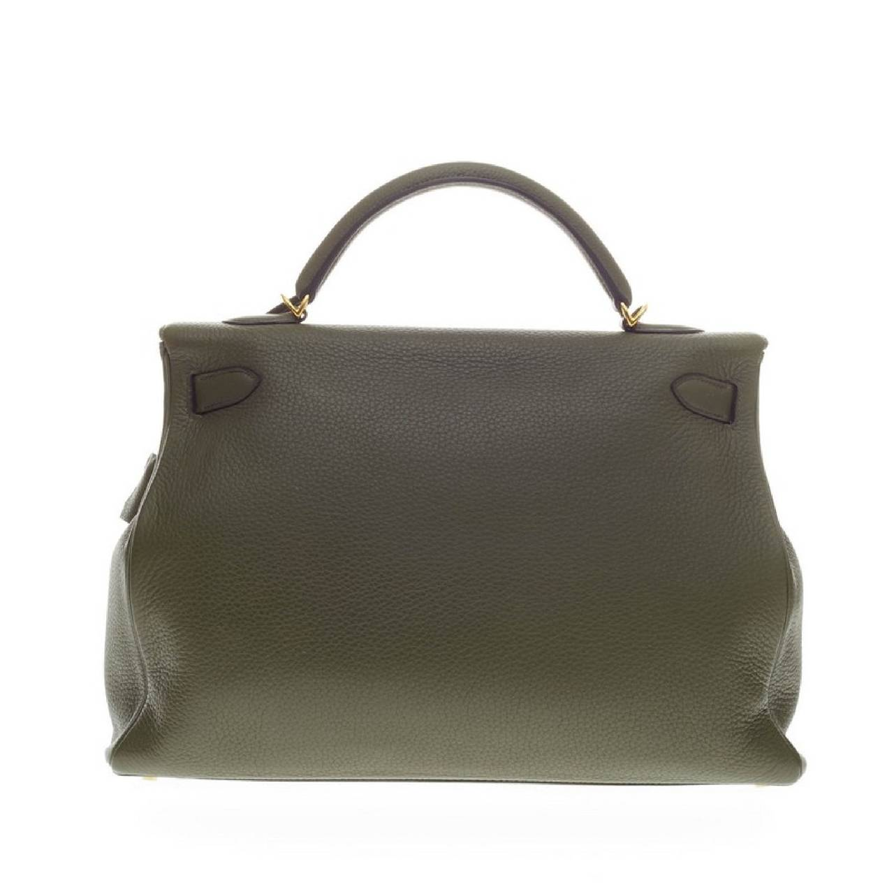 Hermes Kelly Vert Olive Clemence with Gold Hardware 40 4