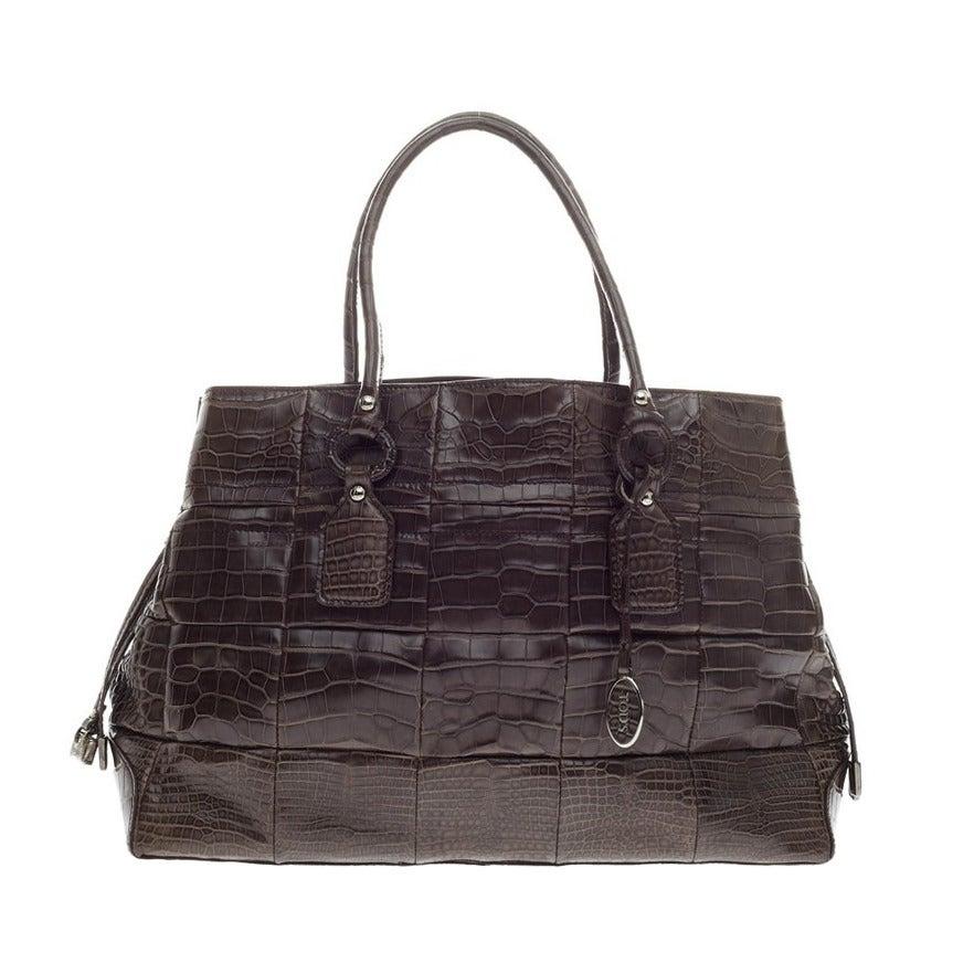 1stdibs 2000s Tods Crocodile Leather Handbag onKlaaz