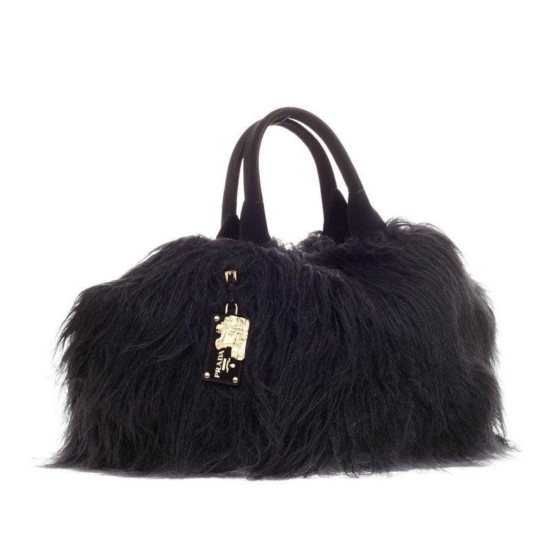 39e82ac9e8f0 Prada Eco Kidassia Tote Faux Fur In Good Condition For Sale In New York