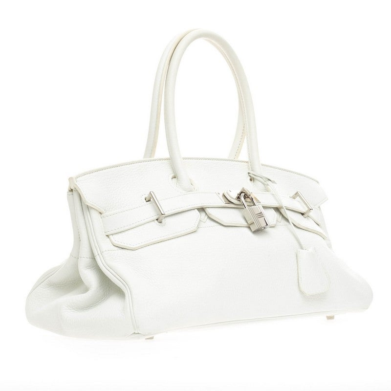 replica hermes kelly - Hermes Birkin JPG White Clemence with Palladium Hardware 42 at 1stdibs