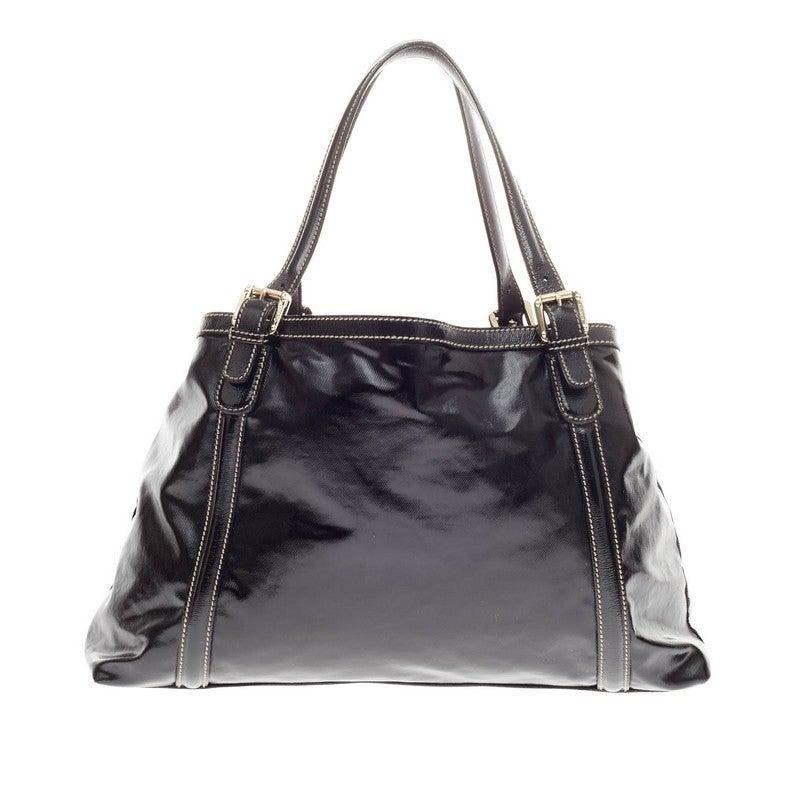 e342b23b99a6 ... Good Condition For Sale In New York, NY. Women's Gucci Dialux Britt  Tote Patent For Sale