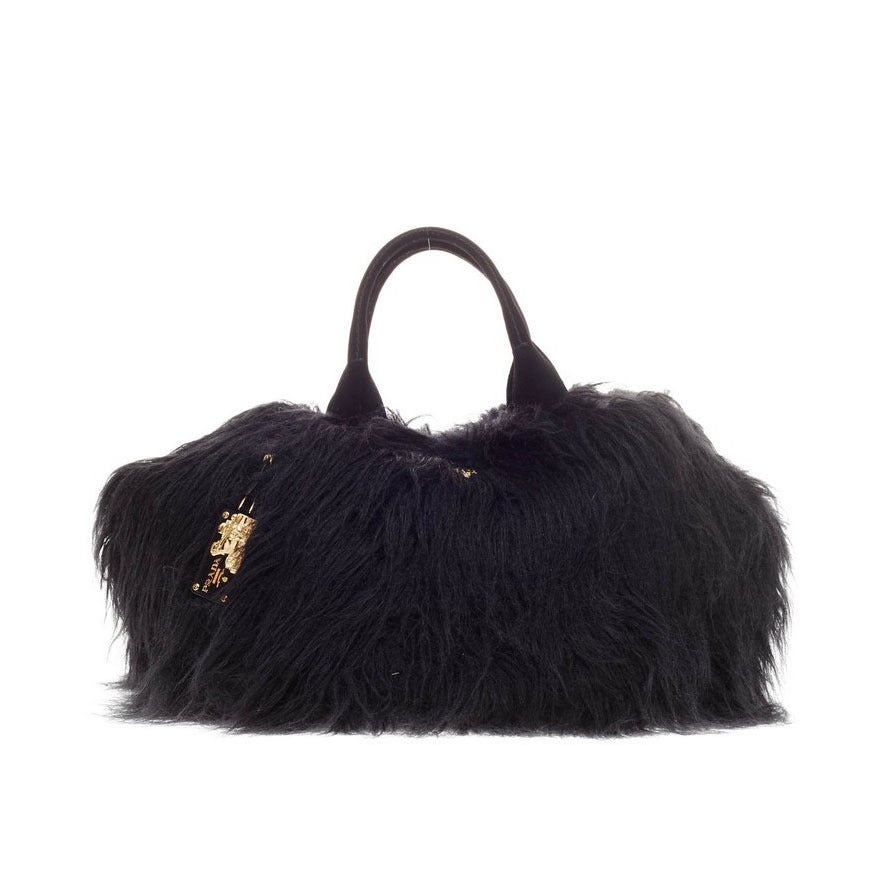 Prada Eco Kidassia Tote Faux Fur at 1stdibs 0bb7f4d72a056