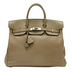 Hermes Birkin Clemence Leather Gris 32 HAC