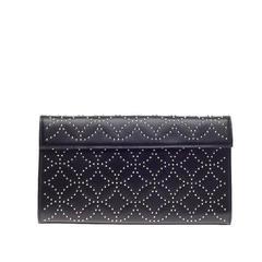 Alaia Flap Clutch Arabesque Studded Leather