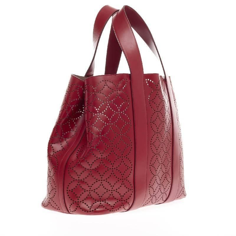 Alaia Side Snap Tote Arabesque Laser Cut Leather at 1stdibs Easy Arabesque Art
