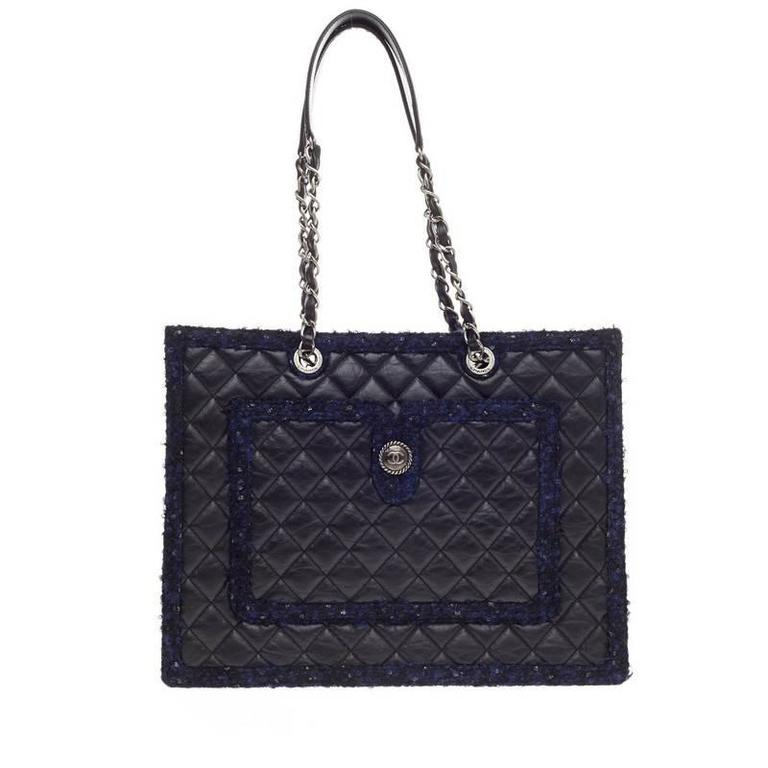71d74298f3f6 Chanel Shopping Bag Tweed Blue | Stanford Center for Opportunity ...
