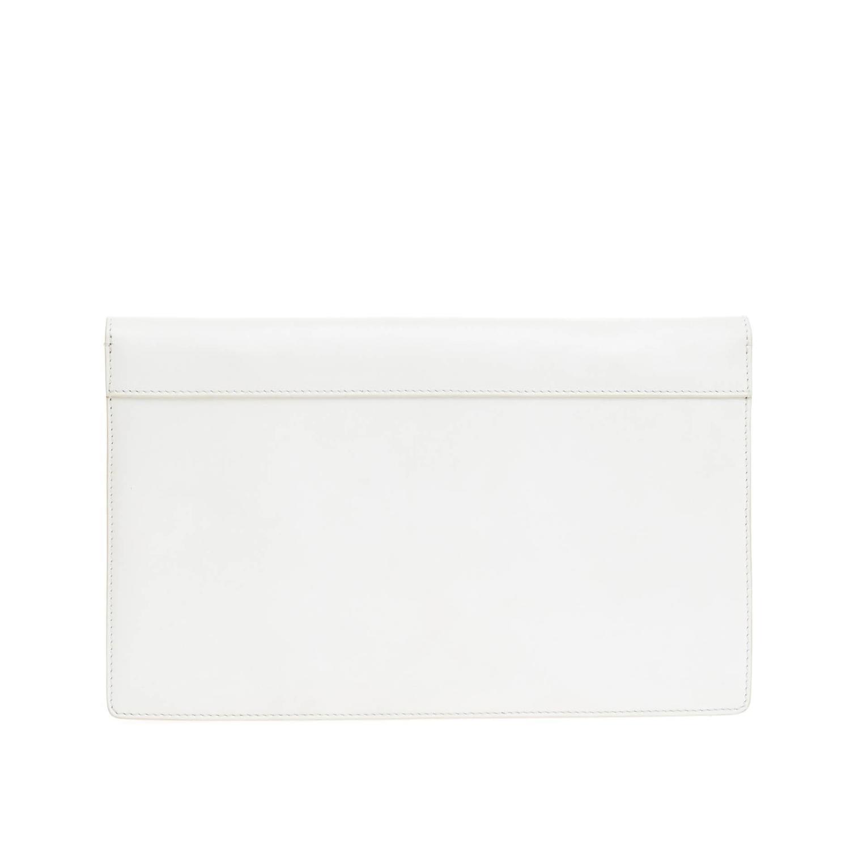 celine beige leather handbag diamond clutch
