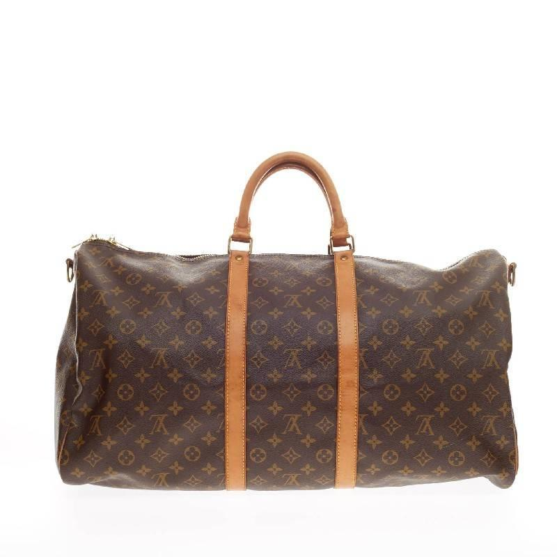 louis vuitton keepall bandouliere monogram canvas 55 at. Black Bedroom Furniture Sets. Home Design Ideas
