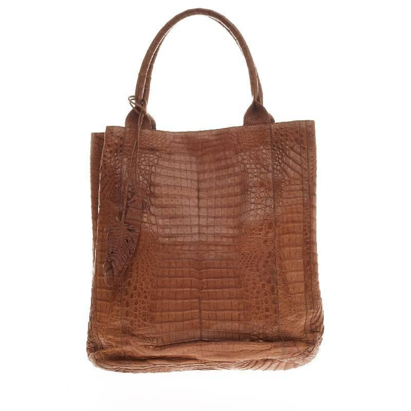 Nancy gonzalez feather tote crocodile tall at 1stdibs for Nancy gonzalez crocodile tote