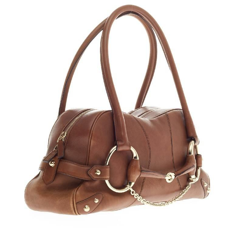 140dd1fd3a34 Gucci Horsebit Chain Shoulder Bag Leather at 1stdibs