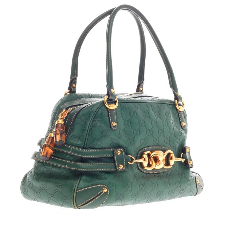 b02365f7682 Gucci Wave Boston Bag Guccissima Leather Medium In Good Condition For Sale  In New York