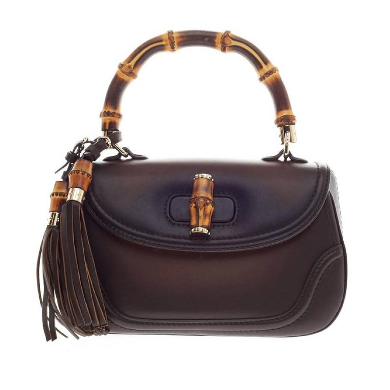 Gucci New Bamboo 1921 Top Handle Leather Medium At 1stdibs