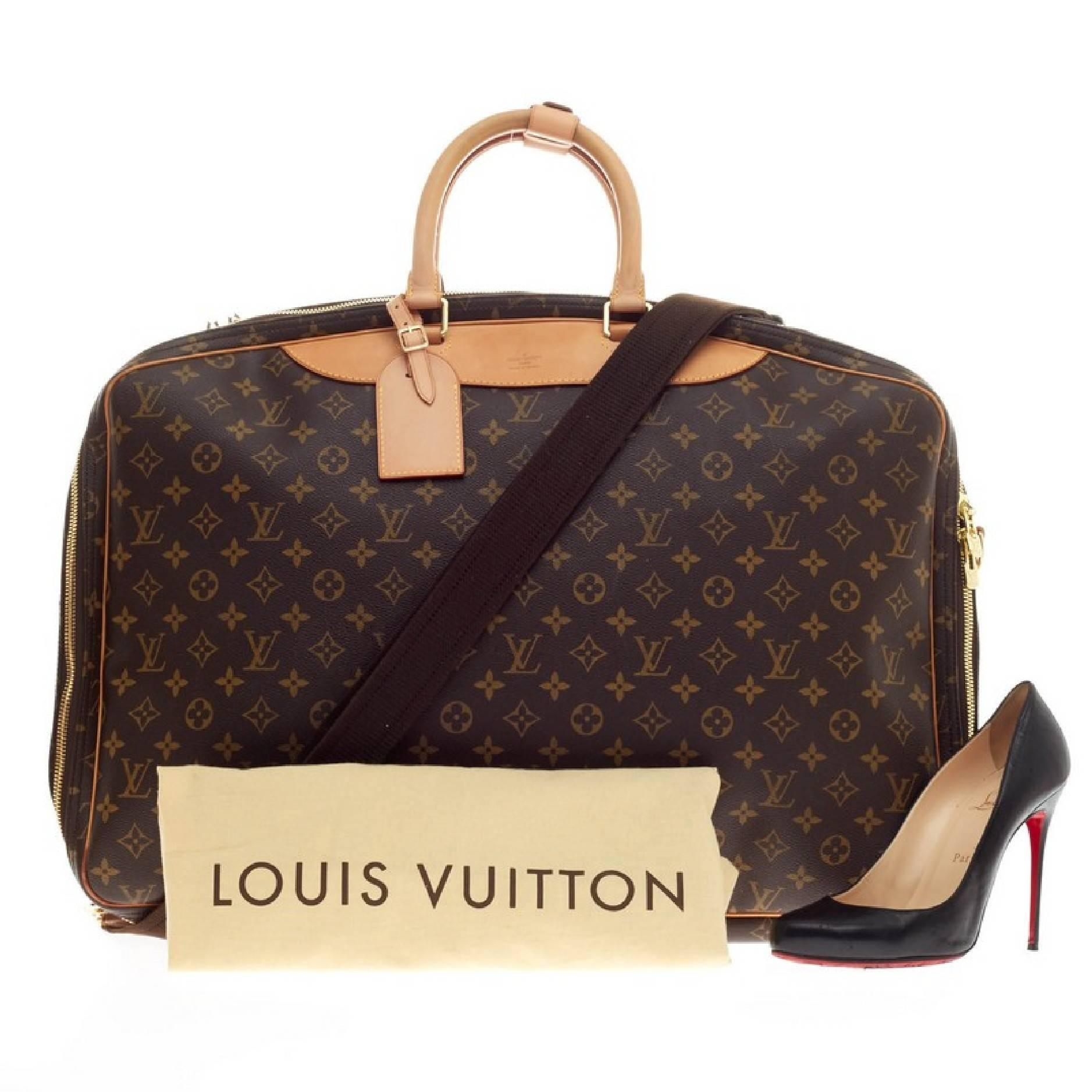 4abe95a758d2 Louis Vuitton Alize Travel Bag Monogram Canvas 2 Poches at 1stdibs