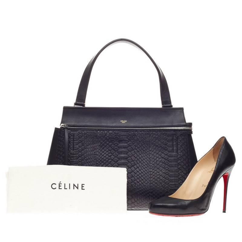Celine Edge Bag Python Medium at 1stdibs