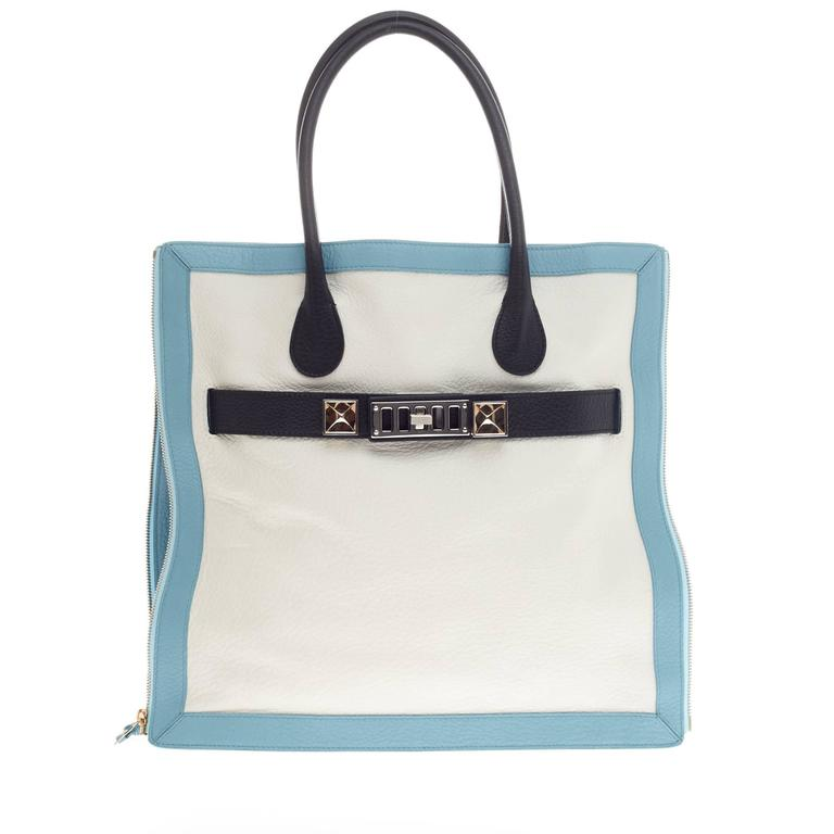 Proenza Schouler PS11 Zip Tote Tricolor Leather 1
