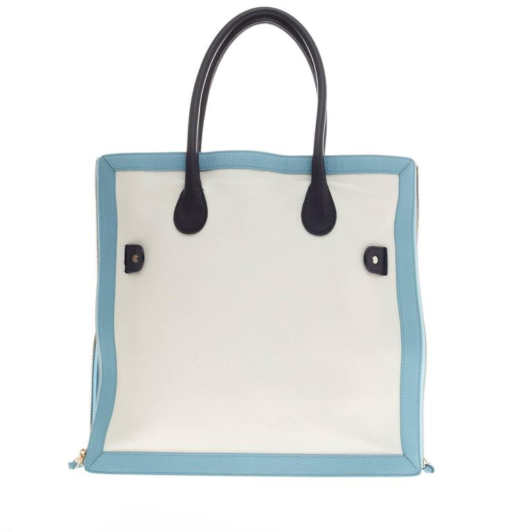 Proenza Schouler PS11 Zip Tote Tricolor Leather 5
