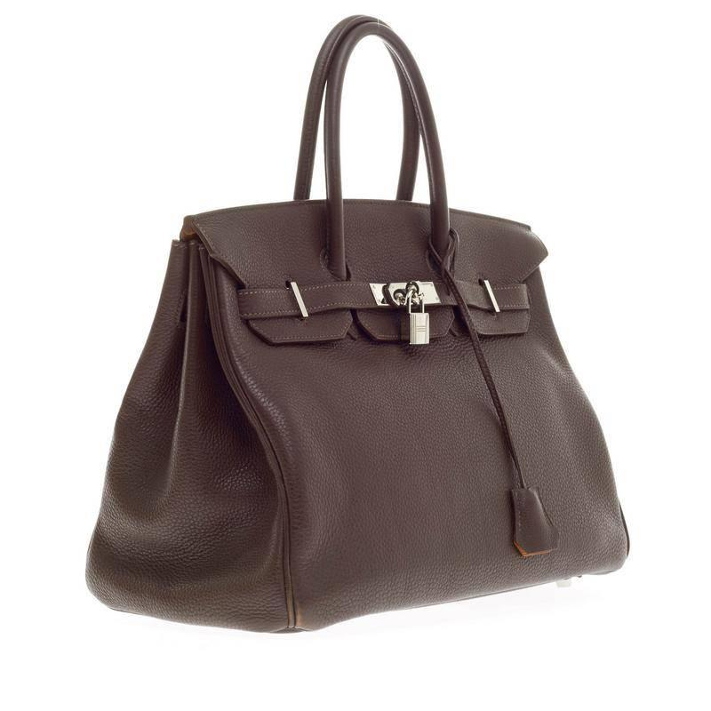 27cc030864ff birkin style leather handbag - Hermes Birkin Chocolate and Rose Shocking  Togo with Palladium . ...
