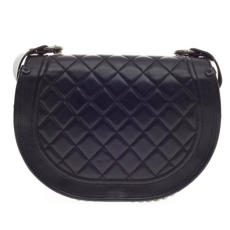 0bec48c10600 Women's Chanel Dallas Studded Saddle Bag Quilted Calfskin and Pony Hair For  Sale