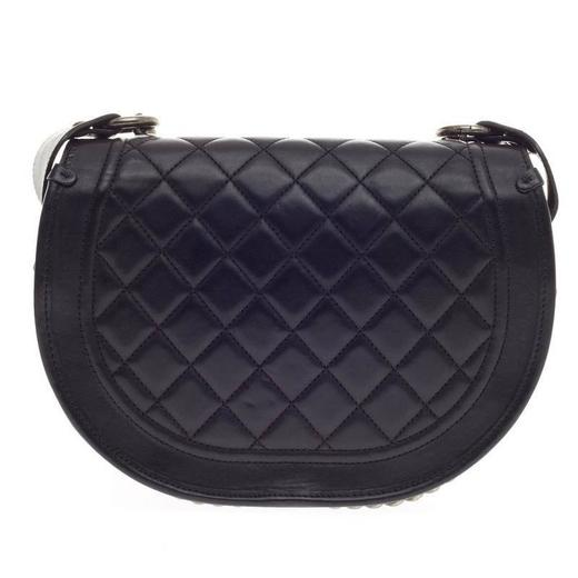 05a41395b310 Chanel Dallas Studded Saddle Bag Quilted Calfskin and Pony Hair at 1stdibs