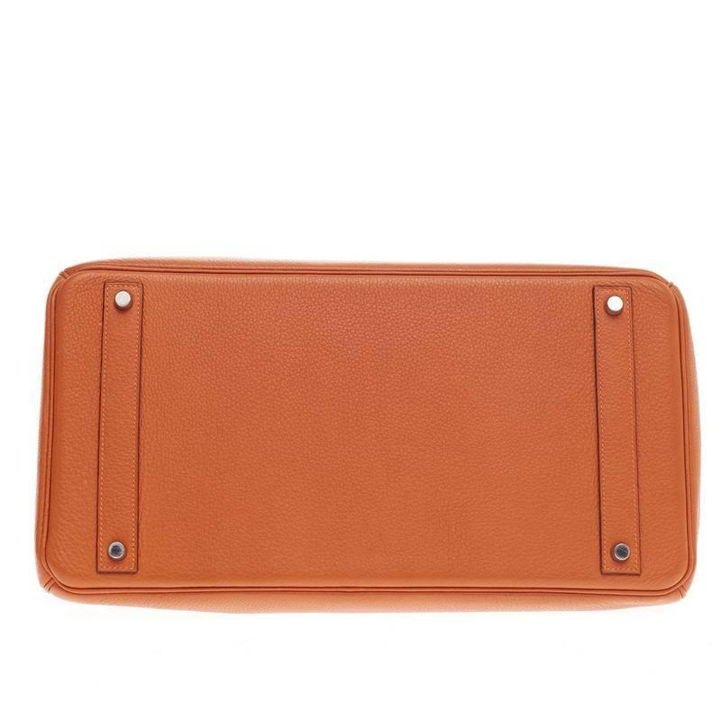 Hermes Birkin Jpg Orange With Palladium Hardware Cheap