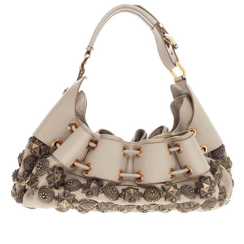 Burberry Mason Warrior Hobo Studded Leather Medium at 1stdibs 22ecb30c84ad1