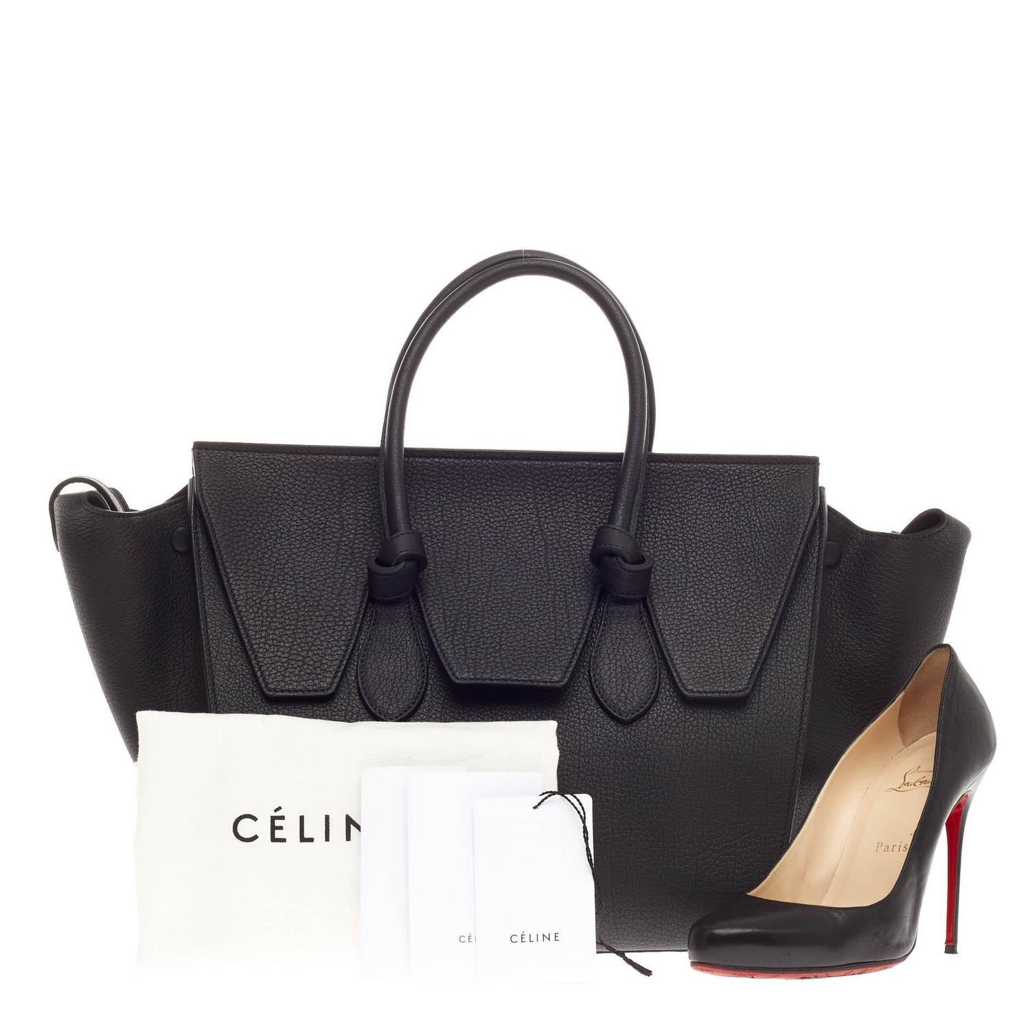 celine bags online review - celine tie leather tote