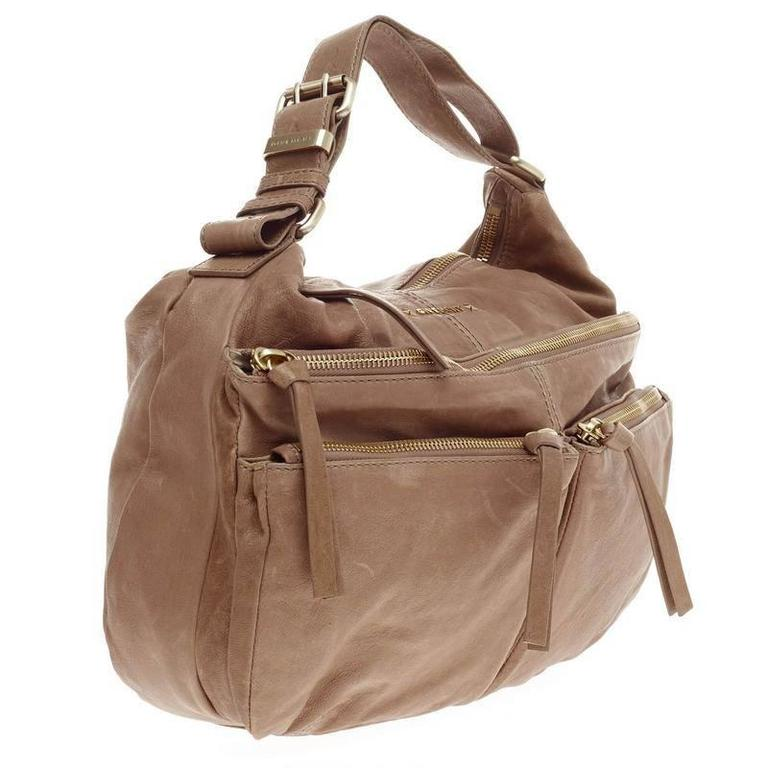 20e6153b6fdb Givenchy Zip Multi Pocket Hobo Leather Medium In Good Condition For Sale In  New York