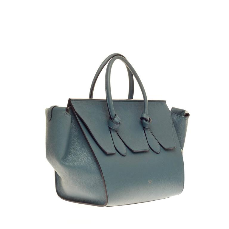 Celine Tie Knot Tote Grainy Leather Large In Good Condition For Sale In New York, NY