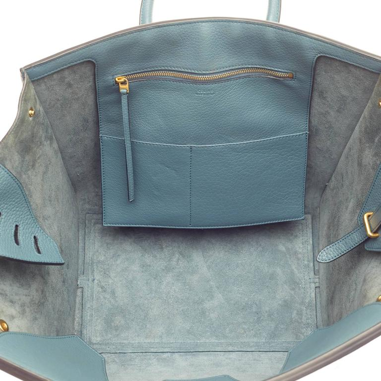 Celine Tie Knot Tote Grainy Leather Large For Sale 2
