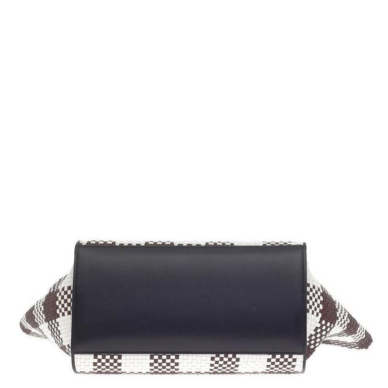 Celine Trapeze Woven Leather Medium 5