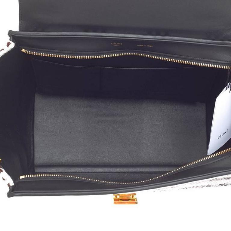 Celine Trapeze Woven Leather Medium 6