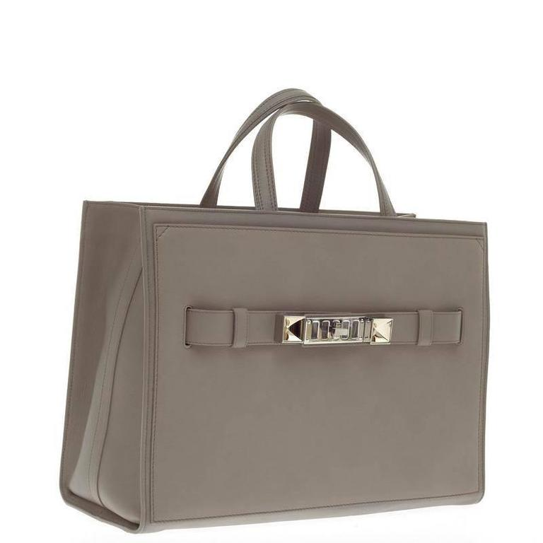 Gray Proenza Schouler PS11 Wide Tote Leather Large For Sale
