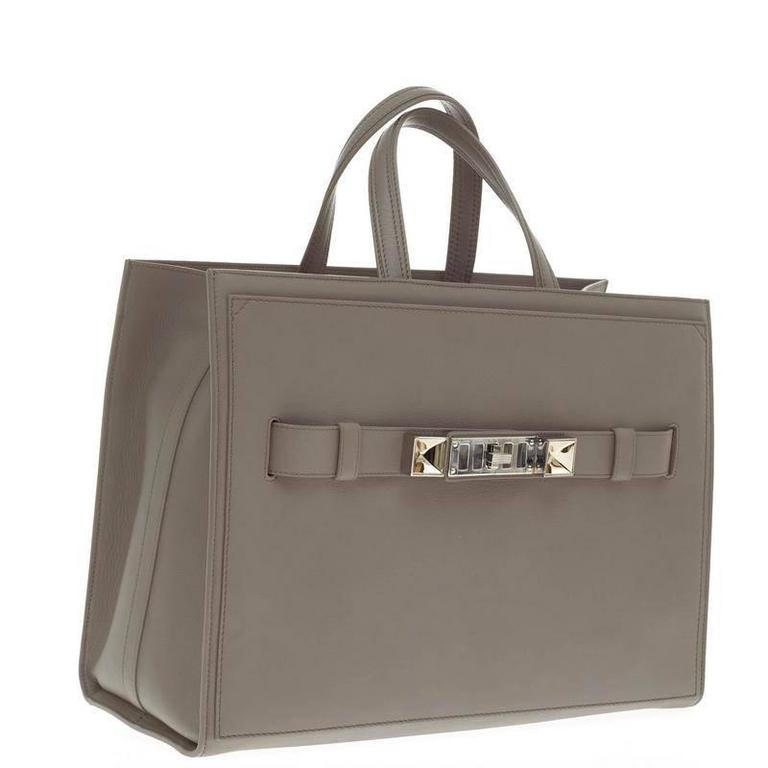 Proenza Schouler PS11 Wide Tote Leather Large In Good Condition For Sale In New York, NY