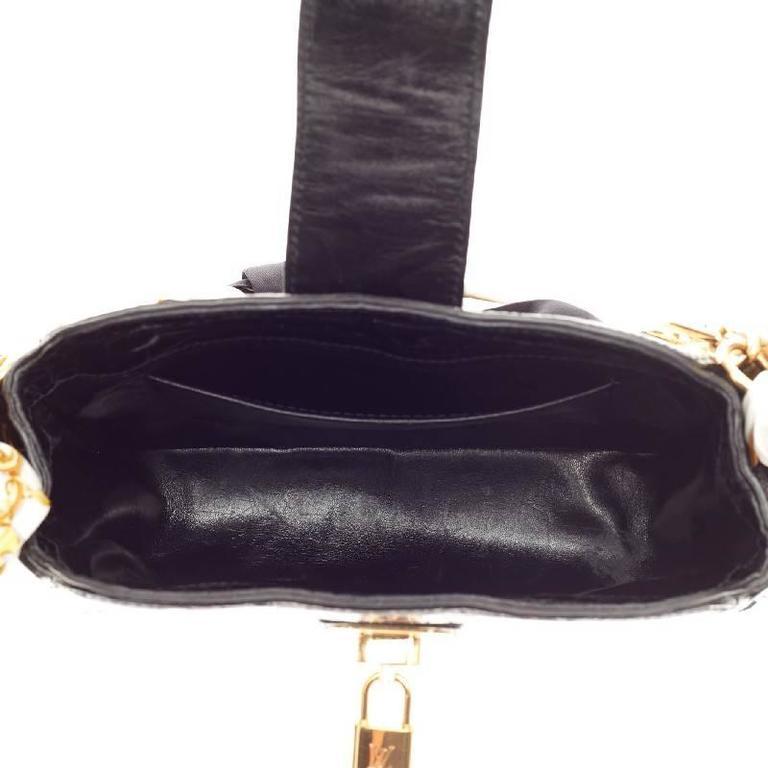 Louis Vuitton Linda Charms Scarf Bag Monogram Silk With Alligator Trim For 2