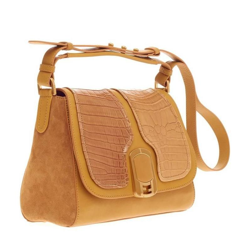 ... inexpensive fendi anna flap bag alligator and leather in good condition  for sale in new york 6bc7587b6fd2b