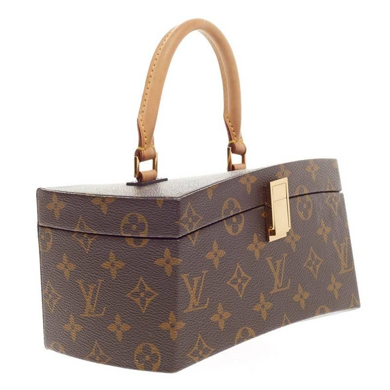 Louis Vuitton Limited Edition Frank Gehry Twisted Box Monogram Canvas At 1stdibs