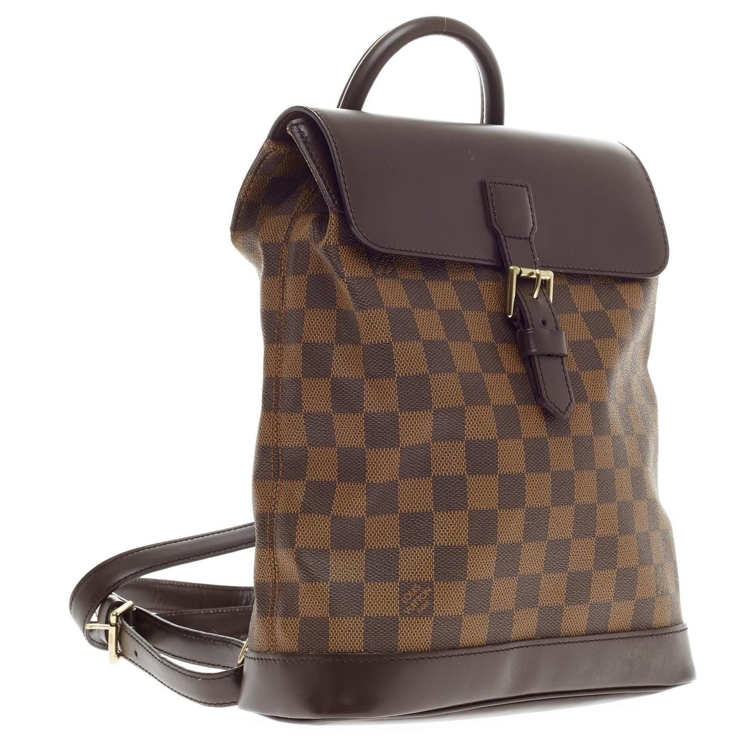 louis vuitton soho backpack damier at 1stdibs. Black Bedroom Furniture Sets. Home Design Ideas
