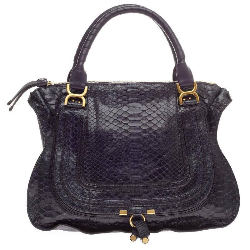 chloe bags replica - Chloe Marcie Satchel Python Large at 1stdibs