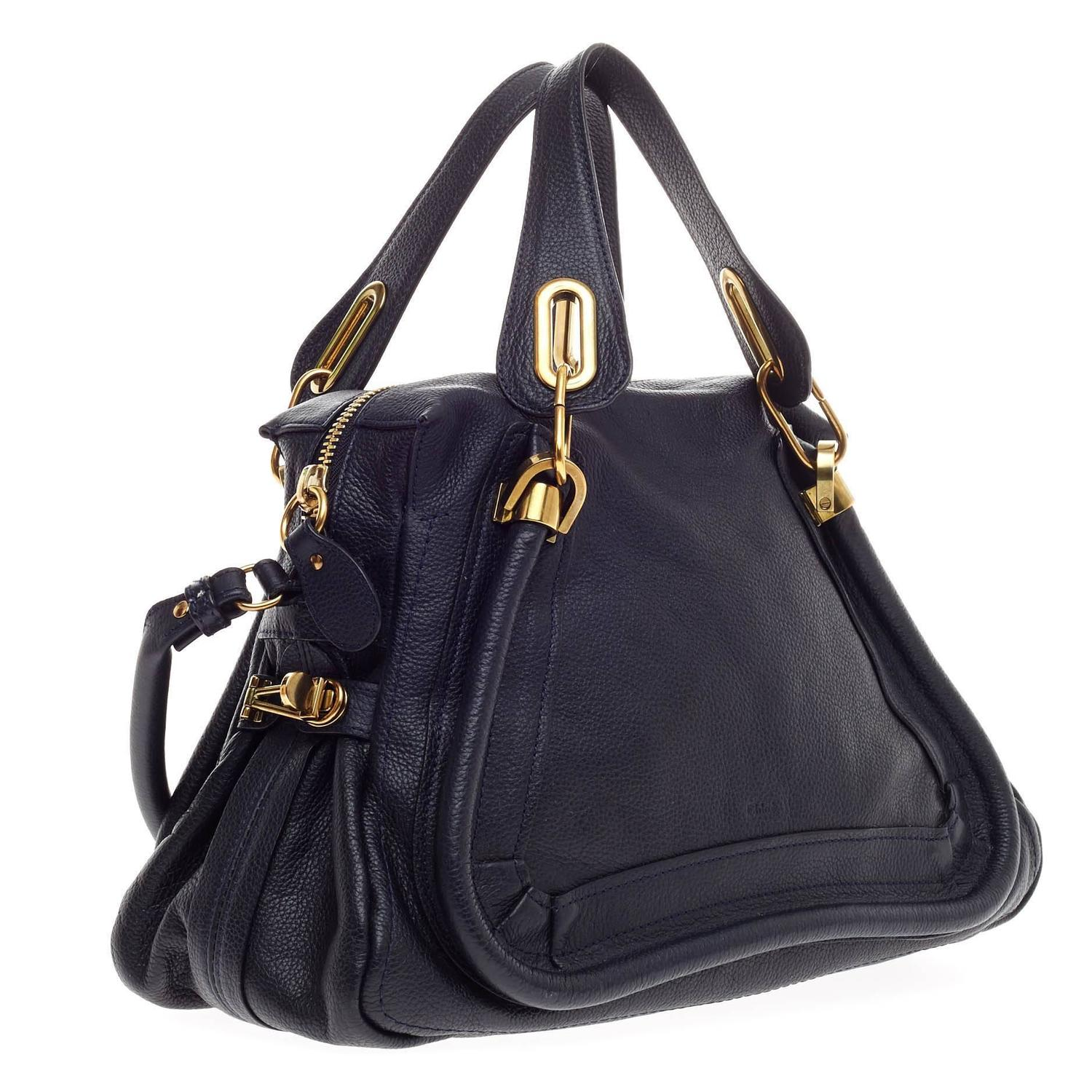 Chloe Paraty Top Handle Bag Leather Medium at 1stdibs
