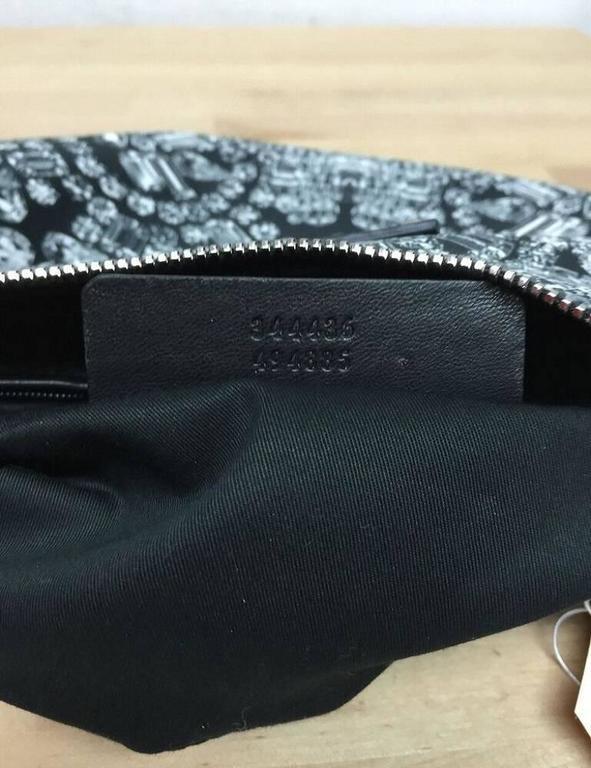 Alexander McQueen De Manta Clutch Print Textile Medium 7