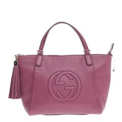 Gucci Soho Convertible Top Handle Leather Small
