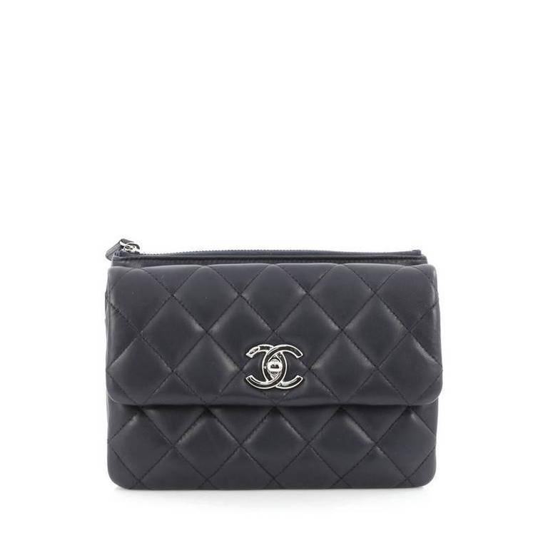 Chanel Daily Zippy Crossbody Bag Quilted Lambskin Small In Good Condition For New York