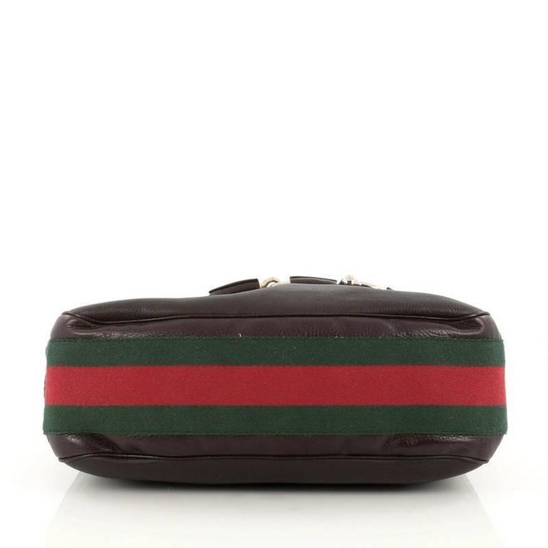 486712d62fd Women s or Men s Gucci Web Horsebit Heritage Hobo Leather Medium For Sale