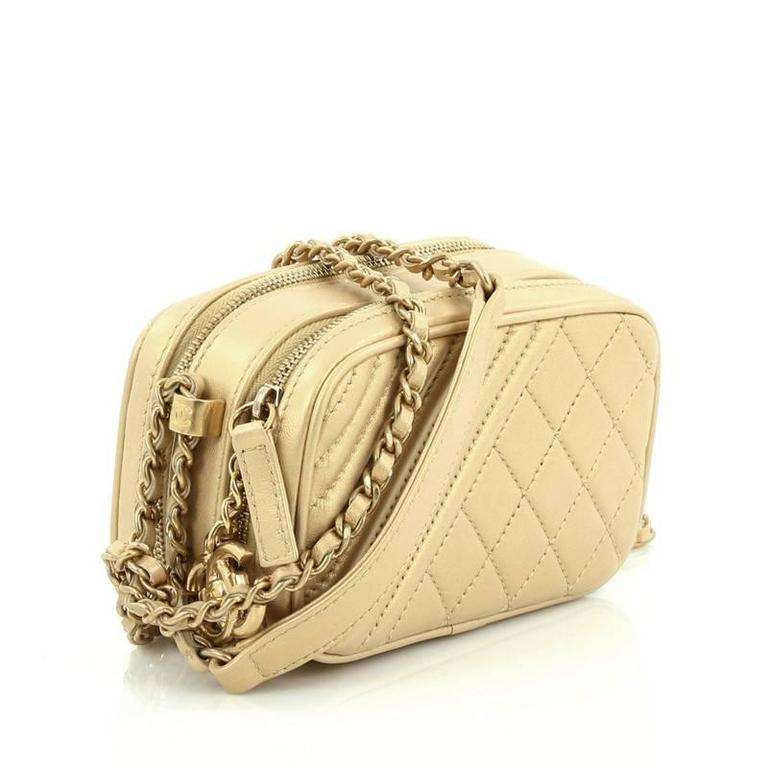 d6308798b56d Beige Chanel Coco Boy Camera Bag Quilted Leather Mini For Sale
