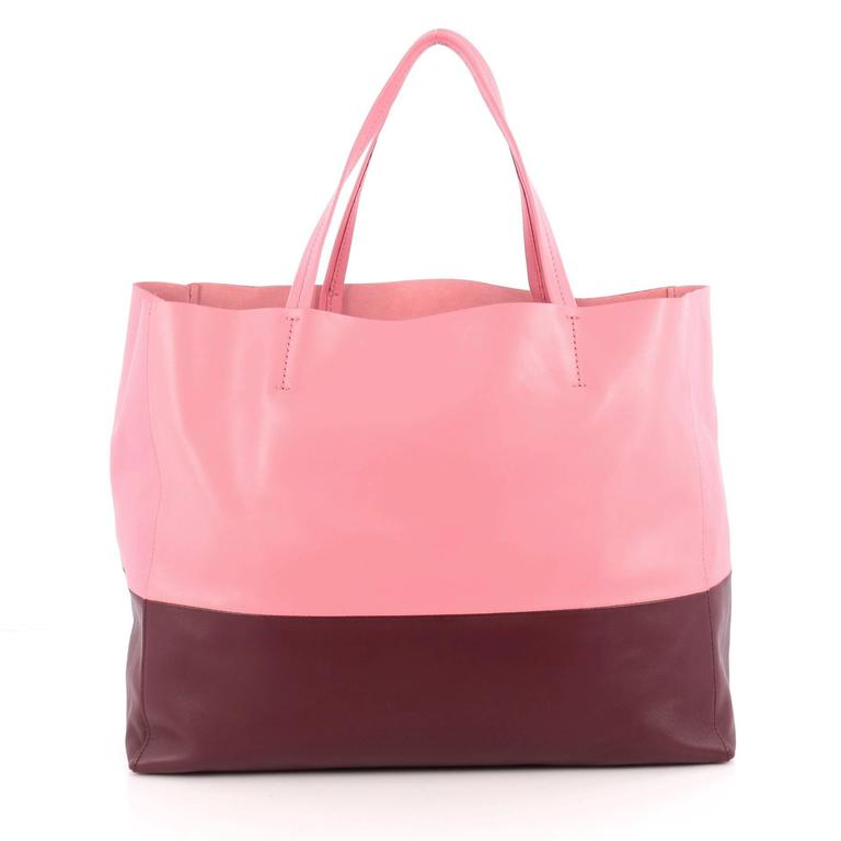 Celine Horizontal Bi-Cabas Tote Leather Large In Good Condition For Sale In New York, NY