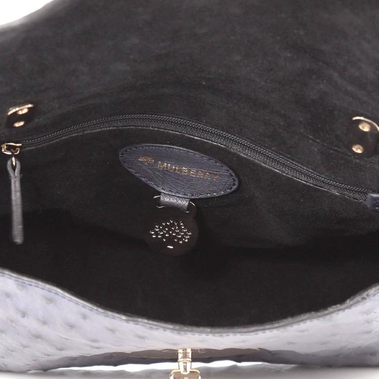e6065177ce Mulberry Lily Chain Flap Bag Ostrich Smallv at 1stdibs