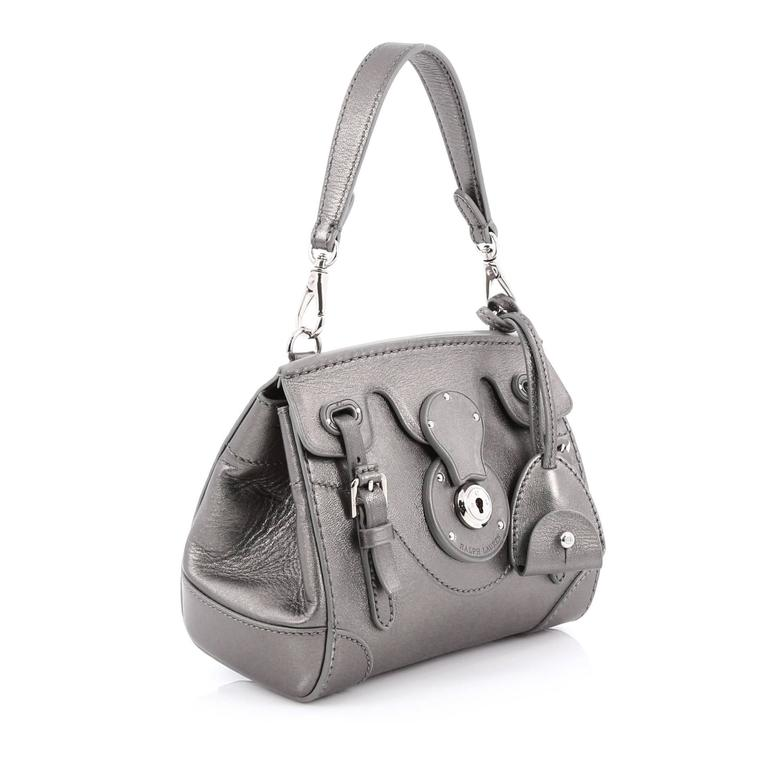 Gray Ralph Lauren Collection Ricky Crossbody Bag Leather Mini For Sale