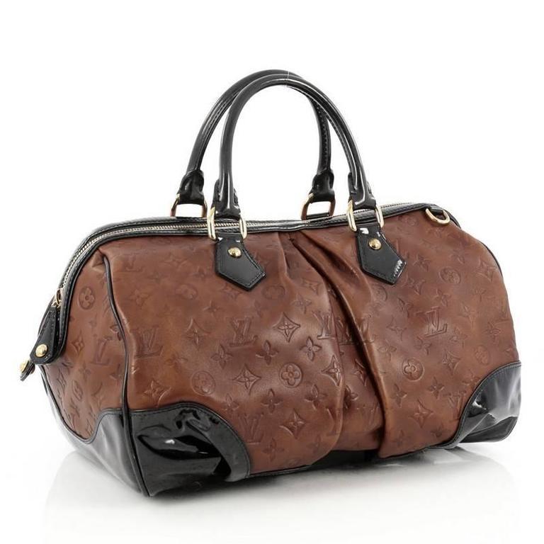 104923730 Louis Vuitton Stephen Handbag Monogram Embossed Leather at 1stdibs